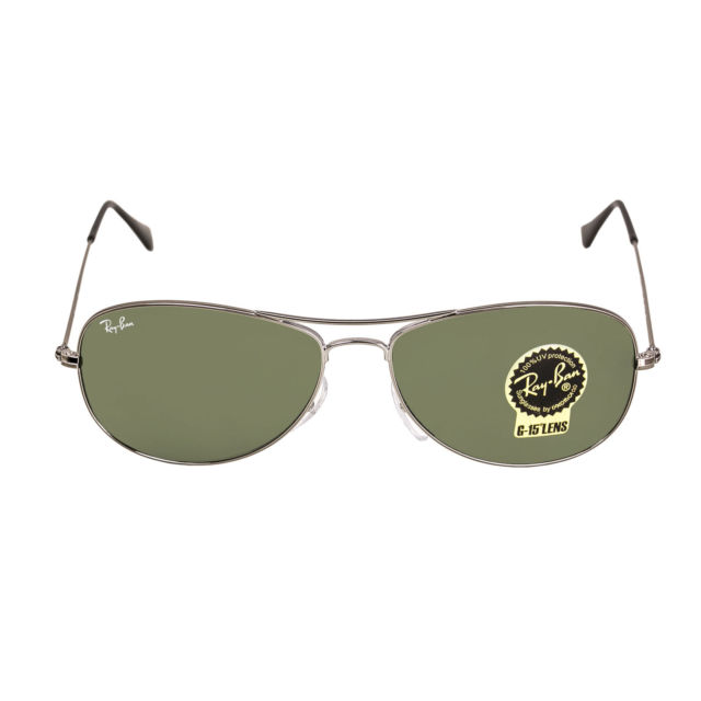 Ray-Ban RB3362 004 56 Cockpit Gunmetal Metal Frame Green Classic G-15 Lenses Men's Sunglasses