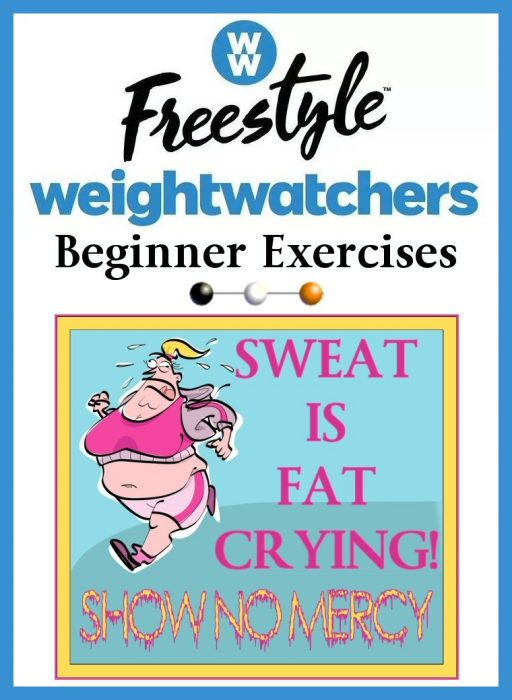WW Tall 14 Weight Watcher's FreeStyle Weight Loss Journey Beginner Exercises