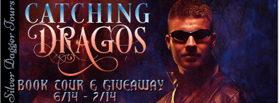 Handcrafted Fired Glass Earrings Giveaway & Catching Dragos Book Tour - banner