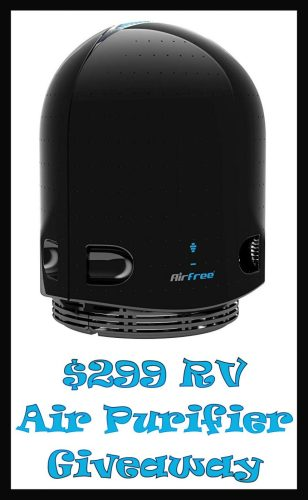 When the Breathing Easy With Airfree Giveaway ends one winner receives an Airfree Onix 3000 Filterless Air Purifier with a $299 RV.