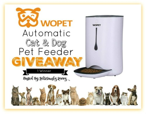 Win a WOpet Automatic Cat & Dog Pet Feeder! Giveaway Ends 8/11