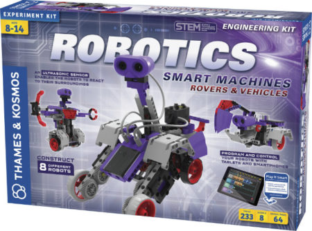One winner will receive a $135 Thames & Kosmos Robotics Smart Machines: Rovers & Vehicles Engineering Kit when this Giveaway Ends 8/27