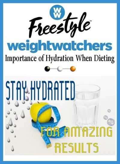 Learn The Importance of Hydration When Dieting in This Weeks Weight Watcher's FreeStyle Weight Loss Journey Post