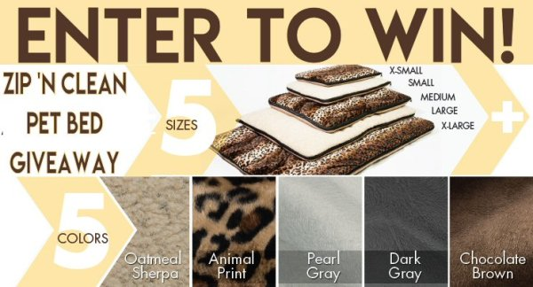 When this back to school gift guide Wash 'n Zip Pet Bed giveaway ends 8/6 one lucky winner will receive their choice of size/fabric of pet bed!