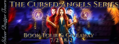 $10 Amazon and Swag Pack Giveaway & The Cursed Angels Series Book Tour ends 8/2