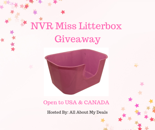 There are 3 WINNERS in this NVR Miss Litterbox #Giveaway! Enter before it ends 9/24 for your chance to win this great #prize for your #cat baby.