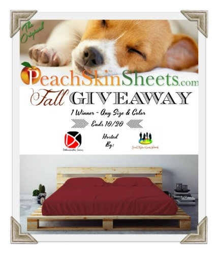 Winners Choice! One Winner Will Win Any Size And Any Color Of PeachSkinSheets When This #Fall #SMGN #GiftGuide #Giveaway Ends 10/20.
