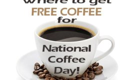 HUGE LIST of where you can get FREE COFFEE for National Coffee Day. #NationalCoffeeDay #Free #Coffee