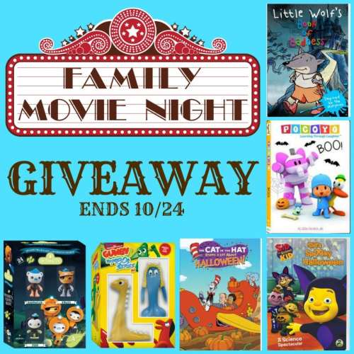 One winner gets all 6 videos when this Family Movie Night Giveaway ends 10/24