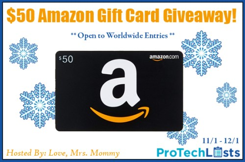 $50 Amazon Gift Card Holiday Giveaway Ends 12/1