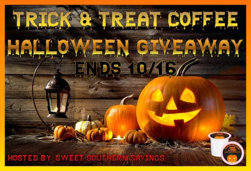 ? It'll be all treats this Howl-O-Ween when you Win this Trick and Treat Coffee Giveaway! ? Enter this Halloween Hop giveaway before it ends 10/16 for your chance at this spooky good prize. #Halloween #Coffee #Win #Winit #Winning #Sweeps #Sweepstake #Sweepstakes #Contest #ContestAlert #Competition #Giveaway #GiveawayAlert #Prize #Free #Gift