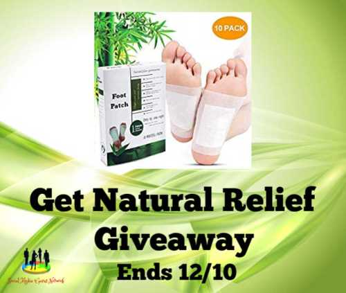 10 lucky readers will Get Natural Relief when this Foot Patch Giveaway ends 12/10. #SMGN #GiftGuide #Winit #Sweeps #ContestAlert #GiveawayAlert #Prize #Free #Gift #Christmas
