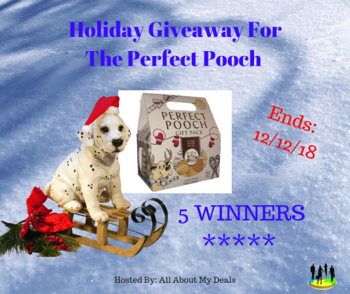 Enter for a chance to be 1 of 5 lucky winners who will #win a Perfect Pooch Gift Pack when this #Giveaway ends 12/12. #GiveawayAlert #Prize #Free #Gift #Holiday #SMGN #GiftGuide