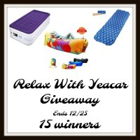 15 winners will Relax with Yeacar Products when this #Holiday #Giveaway ends 12/25 #SMGN #GiftGuide #Winit #Sweeps #ContestAlert #GiveawayAlert #Prize #Free #Gift #Christmas