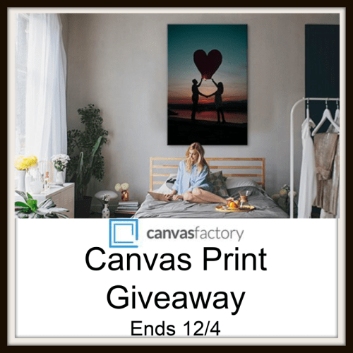 One lucky reader will #Win a Canvas Factory Print for their home when this #Holiday #Gift Guide #Giveaway ends 12/4. #SMGN #GiftGuide #Win #Winit #Sweeps #ContestAlert #GiveawayAlert #Prize #Christmas