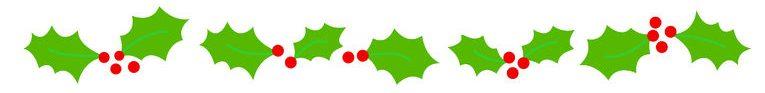 Holly Christmas Border Divider