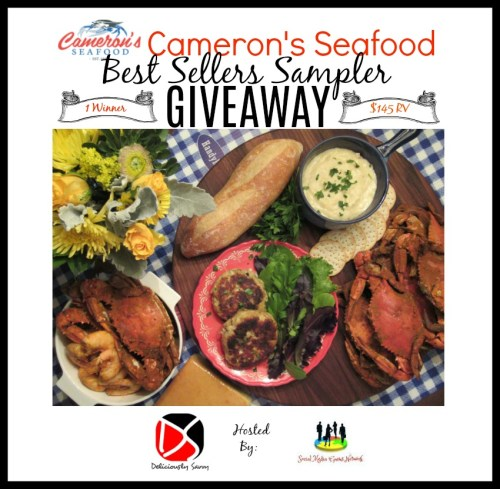 One lucky reader will #win a Best Sellers #Seafood Sampler worth $145 from Cameron's Seafood when this #holiday #gift guide #giveaway ends 12/19. #Sweeps #GiftGuide #Prize #Free #Sweepstake #Winit #Christmas