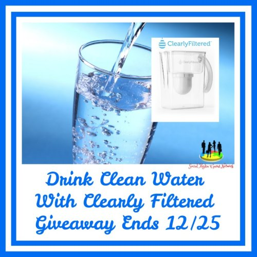 One lucky winner will be drinking clean water with a Clearly Filtered Water Pitcher when they win this Holiday Giveaway that ends 12/25 #SMGN #GiftGuide #Win #Winit #Sweeps #ContestAlert #Giveaway #GiveawayAlert #Prize #Free #Gift #Holiday #Christmas