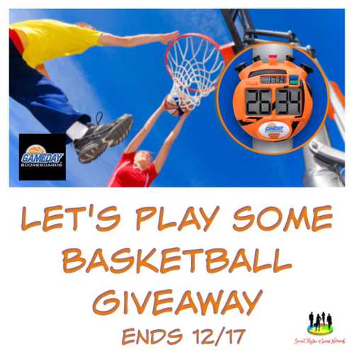 You can win a GameDay Scoreboard when this Let's Play Some Basketball Giveaway ends 12/17 #SMGN #GiftGuide #Win #Winit #Sweeps #ContestAlert #Giveaway #GiveawayAlert #Prize #Free #Gift #Holiday #Christmas