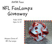 One lucky reader will receive a AWSM Fans NFL FanLampz of their choice when this giveaway ends 12/25. #Win #Winit #NFL #Giveaway #Christmas