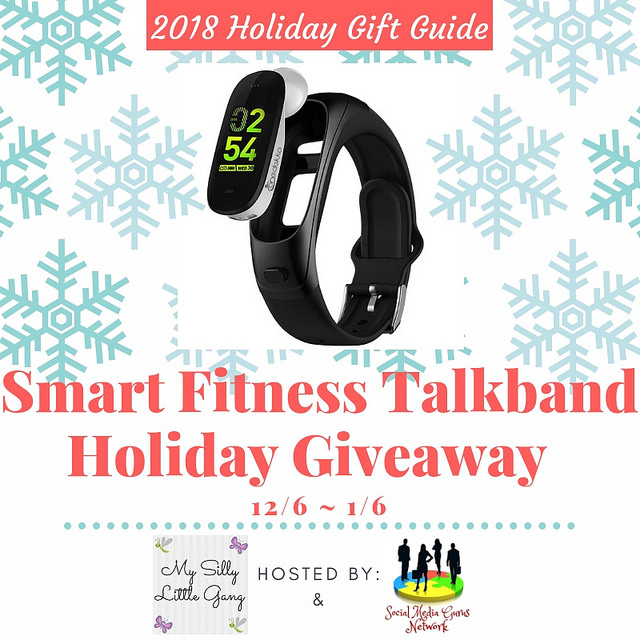 Enter to #win a Smart Fitness Talkband when this #Holiday #Gift Guide #Giveaway Ends 1/6 #Sweeps #GiftGuide #Prize #Free #Sweepstake #Winit #Christmas #HGG18