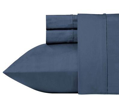 California Design Den 400 Thread Count 100% Cotton Sheet Set, Indigo Batik Queen Size Sheets 4 Piece Set