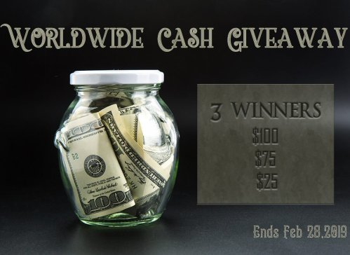 Enter for a chance to be one of three who will #win a gift card or #PayPal #cash and shop for your sweetheart for #FREE when this #Worldwide #Sweepstakes #Giveaway ends 2/28.