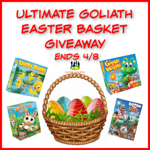 #Win 4 Games When This Ultimate Goliath Easter Basket #Giveaway Ends 4/8 @SMGurusNetwork @las930 @GoliathGamesUS @pressmantoy