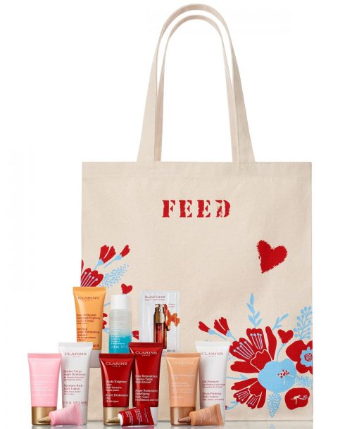Shop With A Purpose and Grab Your FREE 7-Pc. Skin Care GIFT With $75 Clarins Cosmetics Purchase At Macy's + Find Out How To GET An EXTRA 15% off #Macys #MothersDay #Mom #Comestics #Beauty #SkinCare #Skin #Feed #CharitableDonation #Charity #ClarinsatMacys