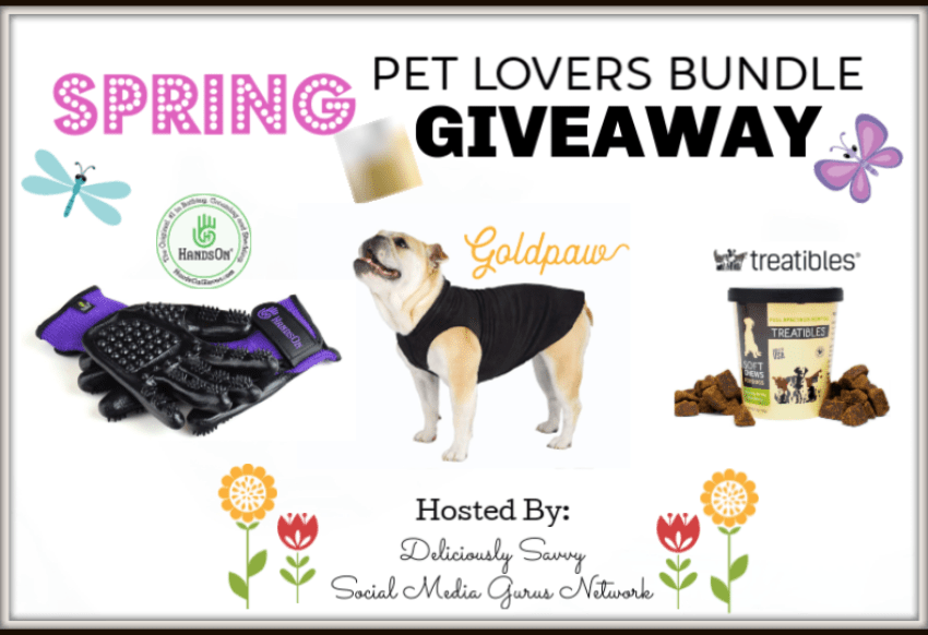 One lucky reader will #win this ?Spring/?Easter Gift Guide #Giveaway for a Pet Lovers Bundle worth over $100 when it ends 4/21. #Spring #Easter #Pet #Winit #Contest