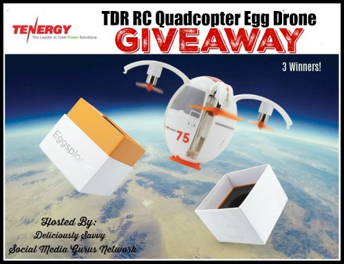 Three will #WIN a Tenergy TDR RC Quadcopter Egg Drone when this #BTS Gift Guide #Giveaway ends 8/26. #Drone #Quadcopter #Contest #BackToSchool
