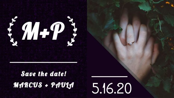 Save the date Marcus & Paula Wedding Announcement Made Free With Adobe Spark