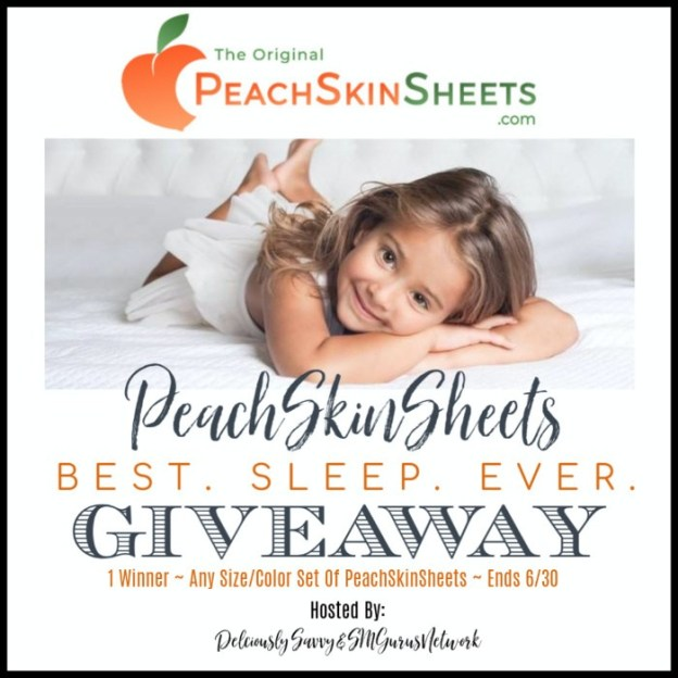 Enter and you could #WIN a set of PeachSkinSheets in your choice of size and color when this #SMGN Gift Guide #Giveaway ends 6/30. @SMGurusNetwork @PeachSkinSheets