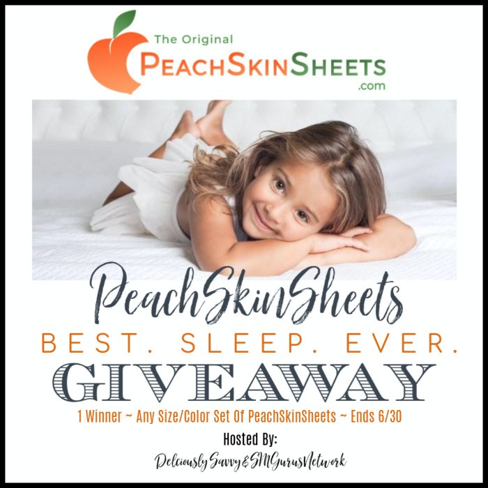 🍑 Enter and you could #WIN a set of PeachSkinSheets in your choice of size and color when this #SMGN PeachSkinSheets BEST • SLEEP • EVER Gift Guide #Giveaway ends 6/30. @SMGurusNetwork @PeachSkinSheets