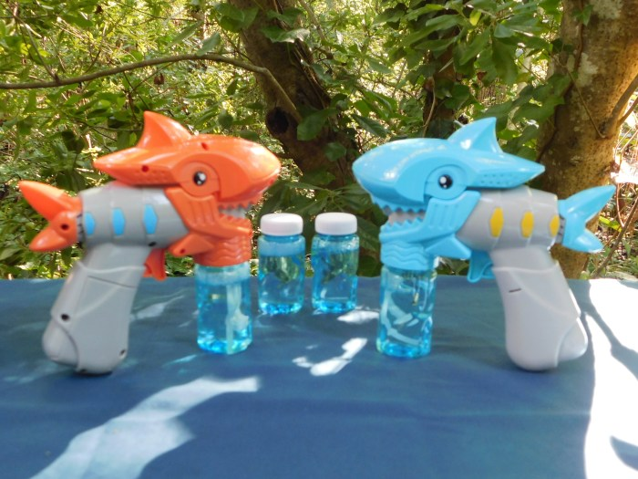More Summer Fun with these Musical LED Shark Bubble Shooter Toys