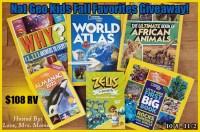 National Geographic Kids Fall Favorites Book Bundle Giveaway!