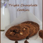 Triple Chocolate Cookies, brownie cookies, best brownie cookies