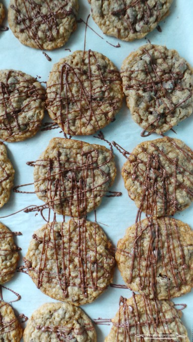 Pin Thin and Chewy Oatmeal Chocolate Chip Cookies