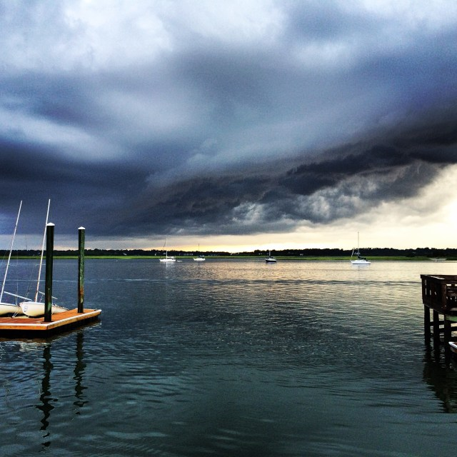 Shelf Cloud Over the Intracoastal Waterway