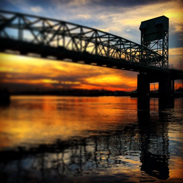 Cape Fear Memorial Bridge at Sunset