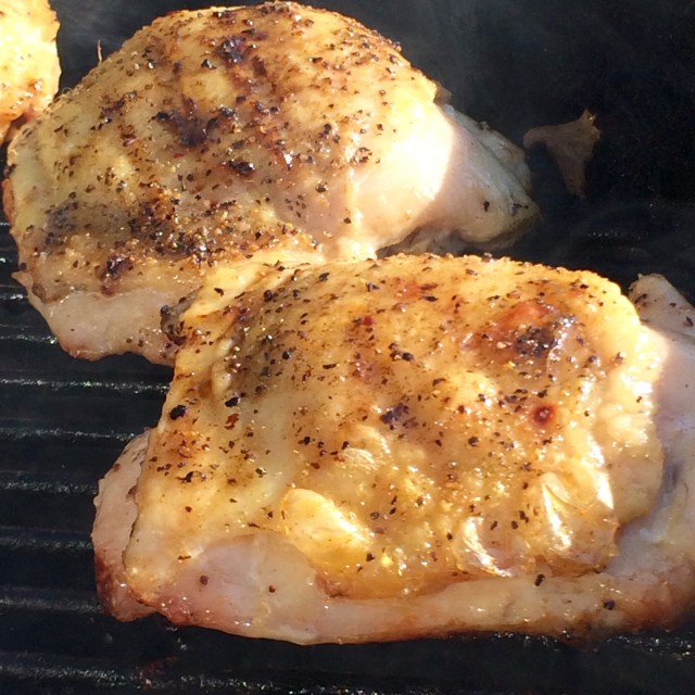 Seasoned Chicken on the Grill