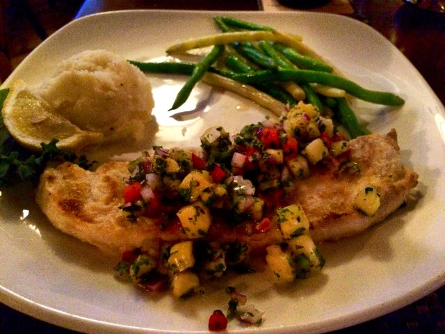 Swordfish with Pineapple Mint Pico de Gallo