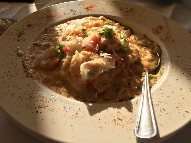 Shrimp and Grits - The George on the Riverfront Style
