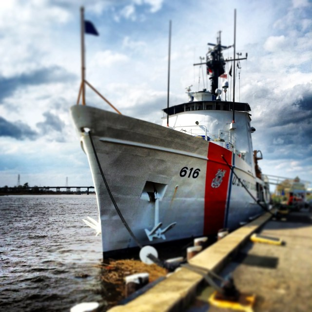 A View of the Coast Guard Ship on the Cape Fear