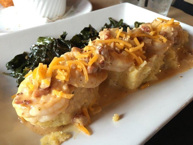 Shrimp & Grits with Collards