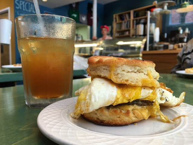 Buttermilk Biscuit with Egg, Cheddar, & Firsthand Sausage