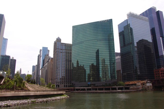 Cruising the river in Chicago