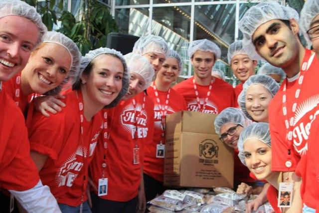 Volunteers Packaging Meals Source: Stop Hunger Now