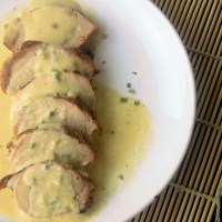 Pork Tenderloin with Mustard Cream Sauce
