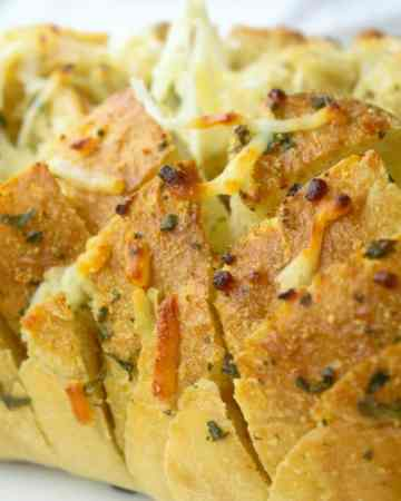 Cheesy Garlic Pull Apart Bread - Sweet Tea & Thyme